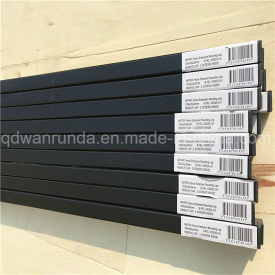 20X20mm Black Powder Coating Fence Leg
