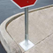 Perforated and Telescoping Square Tube for Traffic Sign Post