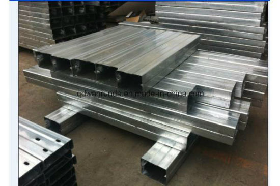 Ms Slotted U Steel Channel Galvanized or Natural Surface