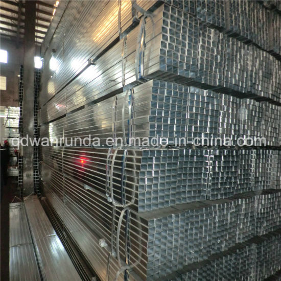 20X20X1.2mm X5800mm Pre-Galvanized Steel Pipe Use for Desk, Advertisement etc