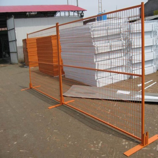 Orange Color Painted Steel Fence Made by Wire Mesh