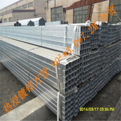 80X80mm Hot DIP Galvanized Square Pipe /Square Tube