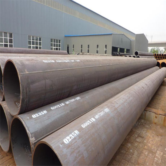 Q235B 600X18mm X 12meters Welded Steel Pipe for Water Transportation